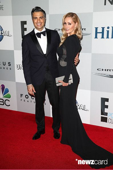 Actor Jaime Camil (L) and his wife, Heidi Balvanera, attend NBCUniversal's 72nd Annual Golden Globes After Party at The Beverly Hilton Hotel on January 11, 2015 in Beverly Hills, California.  (Photo by Imeh Akpanudosen/Getty Images)
