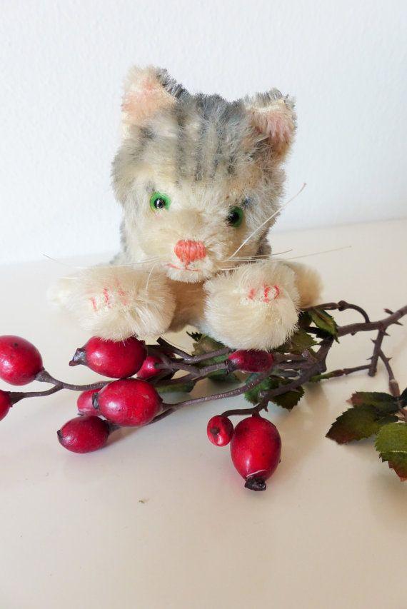 Pupazzo gatto. Vecchio gattino di peluche.  di bamboleantiche, €24.00