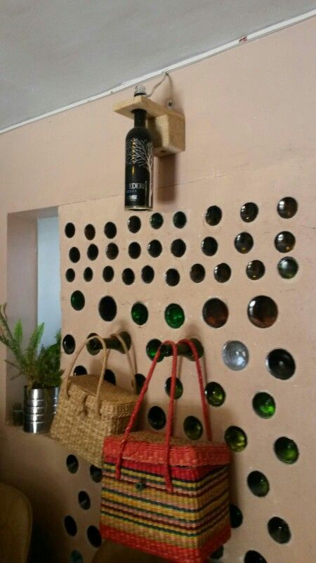 Pared de botellas other side
