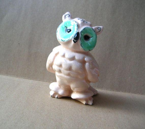 Vintage Owl Figurine Vintage Owl Owl by BohemianGypsyCaravan