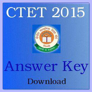 CTET September Answer Key 2015 Paper I & II Download - ctet.nic.in