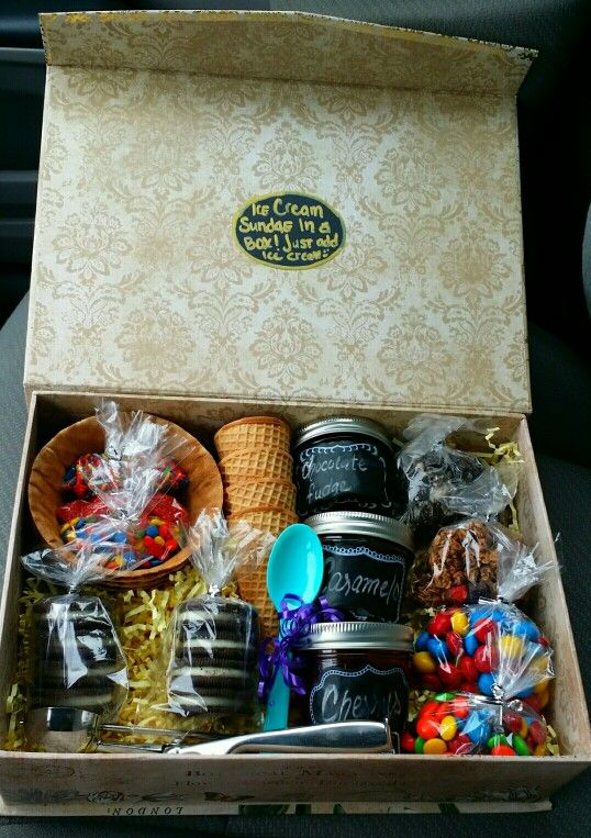 Ice cream sundae in a box. Awsome gift for anyone.
