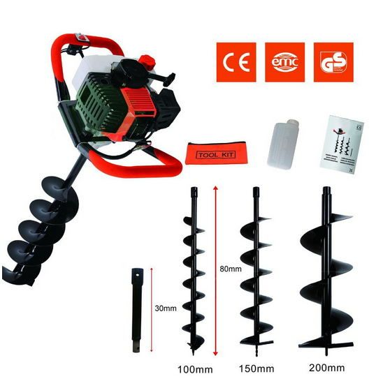 Professional digging hole Earth auger 52cc Earth Drill for Sale Good Machine Post Digger