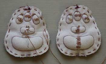 Вышиваем носик мишки и делаем подушечки. Обсуждение на LiveInternet - Российский Сервис Онлайн-Дневников