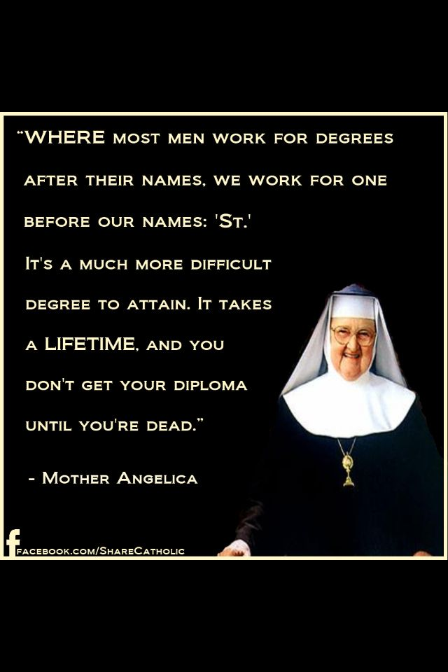 Love, love, love Mother Angelica