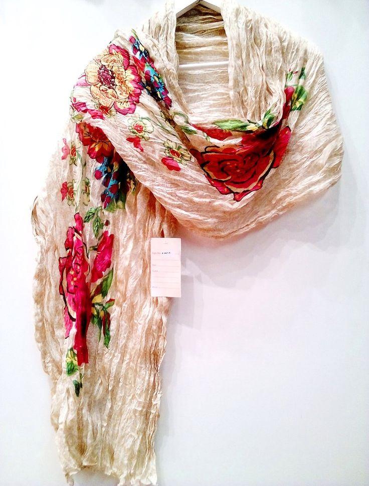 Φουλάρι παρεό σε υπέροχο floral σχέδιο  100% Βαμβάκι