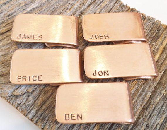 5 Men's Money Clips for Groomsmans Gift Idea Set of Five Moneyclips for Men…