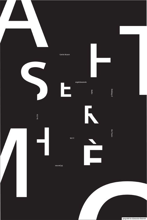 DEEL B: Typografische affiche / voorbeelden typografische ontwerpen