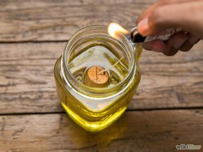 4 formas de hacer una lámpara de aceite - wikiHow