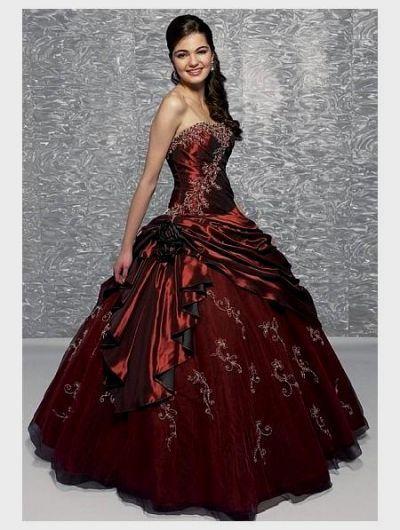 3767b6a96cd9 red gothic wedding dress Naf Dresses