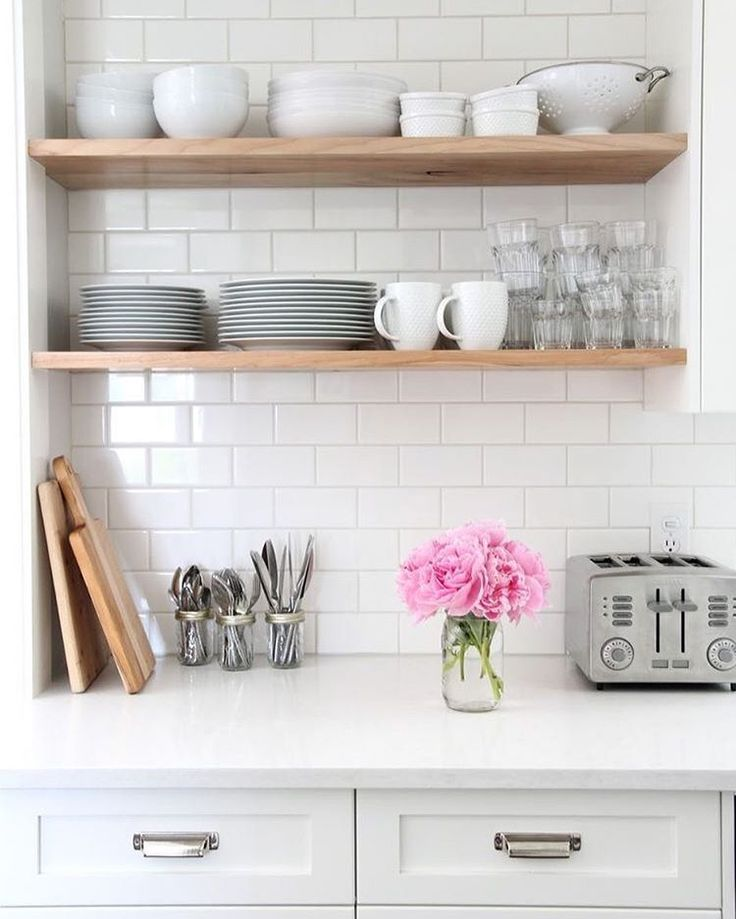Executive Improvements LLC on Instagram: White Kitchen with open Shelves ...