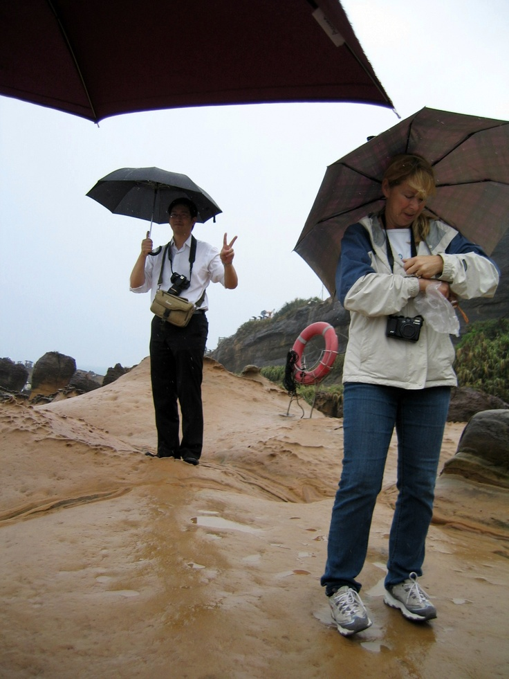 Our leader in Yehliu Geopark. Photo by Kosta.
