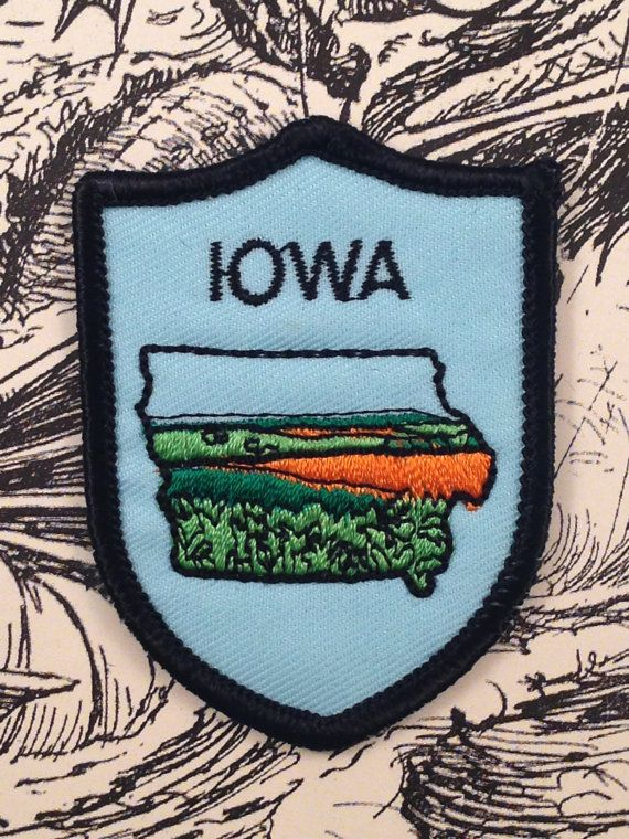 Iowa Vintage Travel Patch by Voyager by HeydayRetroMart on Etsy, $4.50