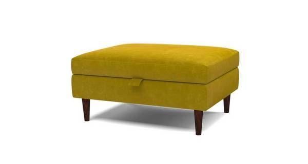 Eden Banquette Storage Footstool Luxe Velvet | DFS