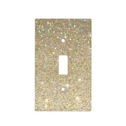 #gold glitter light switch cover - #gold #glitter #gifts