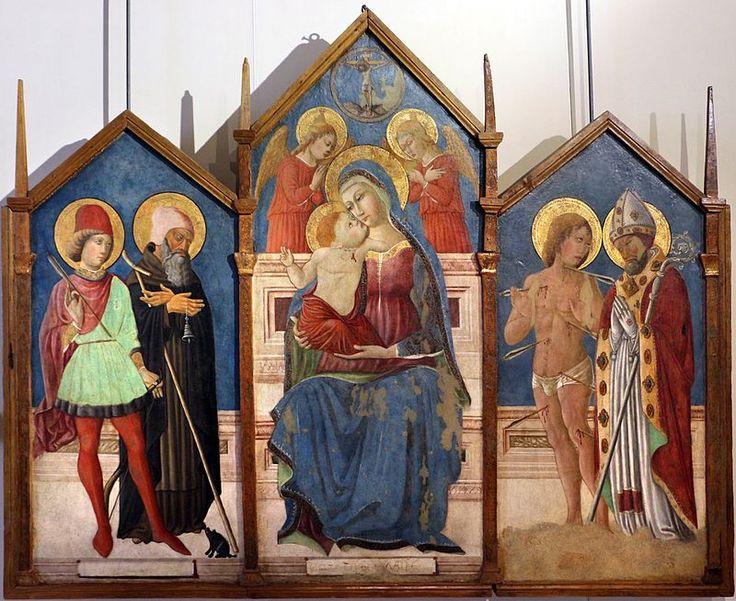 Matteo da gualdo, trittico di pastina di gualdo, 1477,