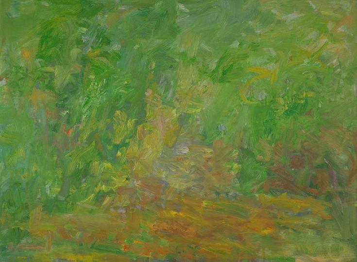 Rautio: Path in the garden - puutarhakäytävä, 80x110 cm, October - lokakuu 2017.