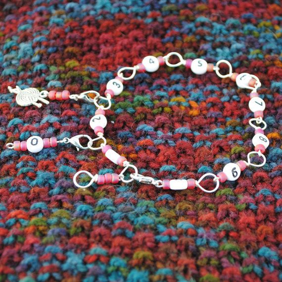 Crochet or Knitting Row Counter can be worn as a bracelet or dangle ...