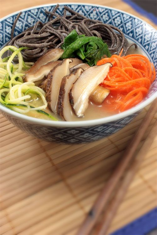 Ginger Umeboshi Broth & Black Bean Noodles ... it's finally cooling off. Almost soup weather!