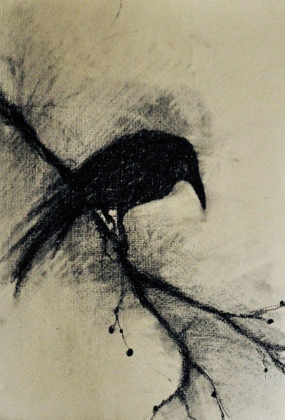 crow drawing - Google-haku