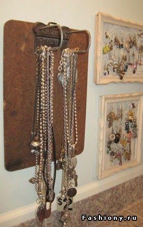 Стильные способы хранения украшений / подставка для сережек