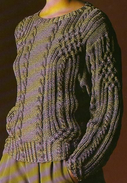 Voici une version assez féminine du pull irlandais, plus près du corps : Tailles : 38/40 - 42/44 - 46 Aiguilles N° 4,5 Le pull irlandais blanc Le pull irlandais acier