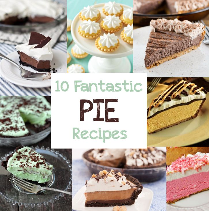 10 Fantastic Pie Recipes from CrazyLittleProjects.com