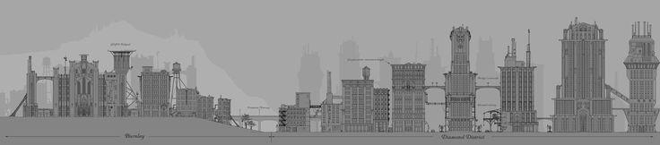 Gotham City Burnley & Diamond District from Batman: Arkham Origins