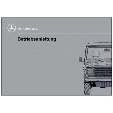 Mercedes Benz 240 GD Manual   Betriebsanleitung   W460