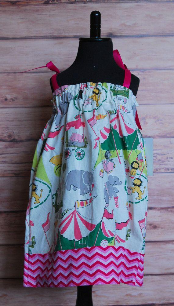 Girls pillowcase curtain dress size 2 vintage by LittleDivasnDudes, $25.00