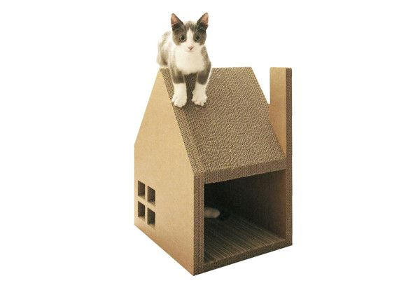 Krabhuis: A Cardboard House for Cats to Scratch in home furnishings architecture Category