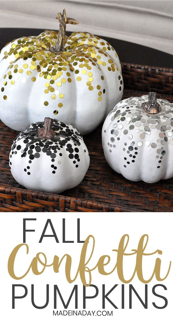 Diy Confetti Pumpkins For Fall Decor Diy Confetti Fall Decor Pumpkin Crafts