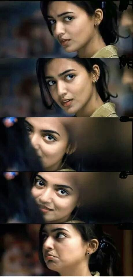 Nazriya Nazim. Haha i loved this scene! It was perfect! Watch ohm shanti oshana and feel the love!;)
