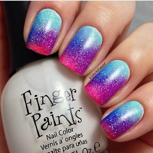 nails girly #pretty nail art