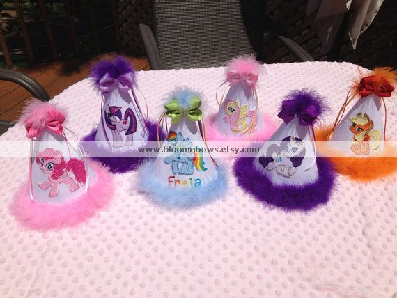 Personalized My Little Pony Birthday Party Hat - you pick the pony on Etsy, $28.00