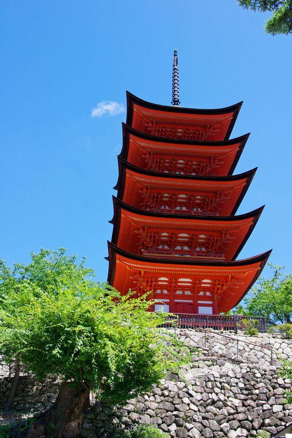 Pagoda at the Itsukushima Shrine #japan #hiroshima
