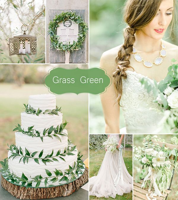 grass green wedding color schemes for 2015 may wedding colors ideas
