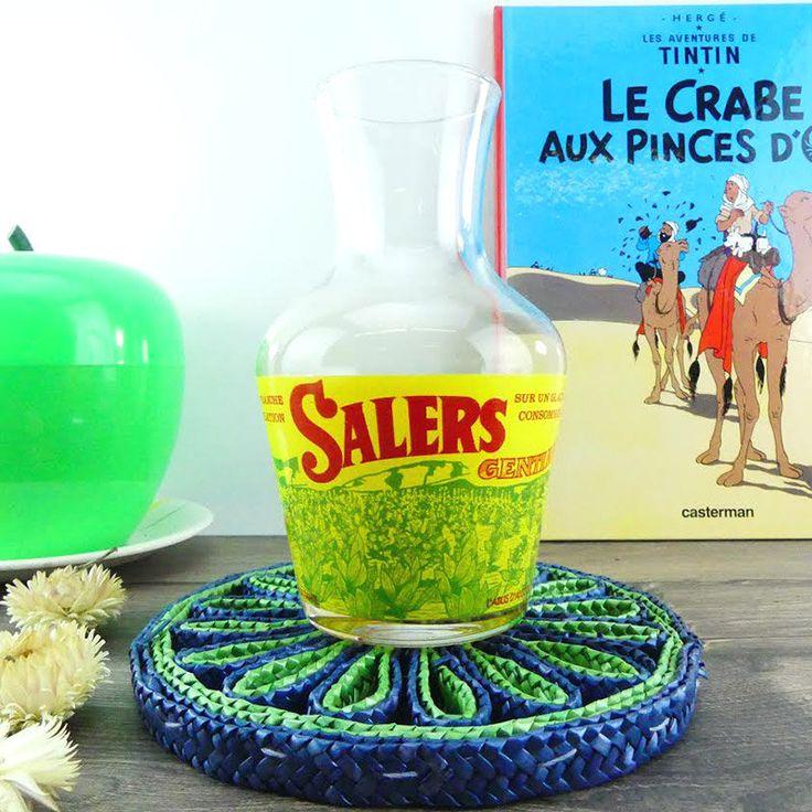 Carafe Salers Gentiane Bistro Français - Pichet à eau français - French Jug…
