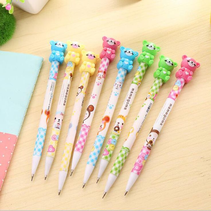 New 0.5mm Cute Ka waii Plastic Mechanical pencil Lovely Moustache Hello Kitty Automatic Pen for Writing Drawing