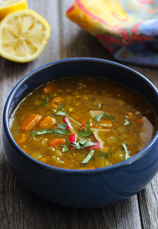 Healing Moroccan Lentil Soup- perfect for a cold winter day.