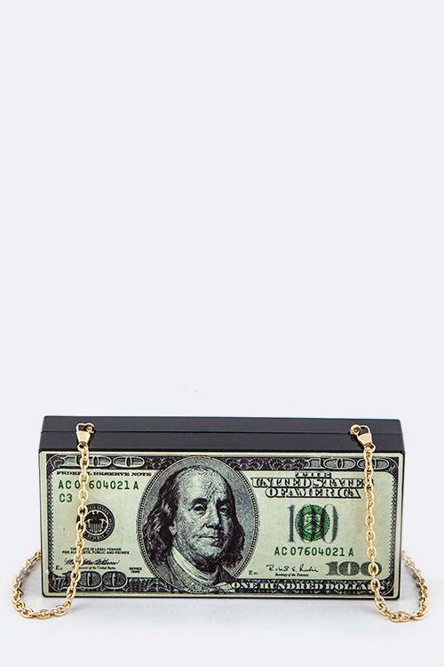 100 Dollar Bill Clutch From Shopwithpoca 100 Dollars Bill