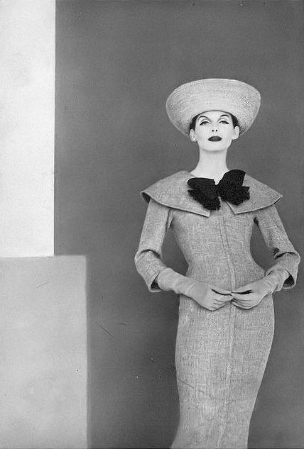 Anne St. Marie, photo by Francesco Scavullo, Vogue, April 1, 1956 | flickr skorver1