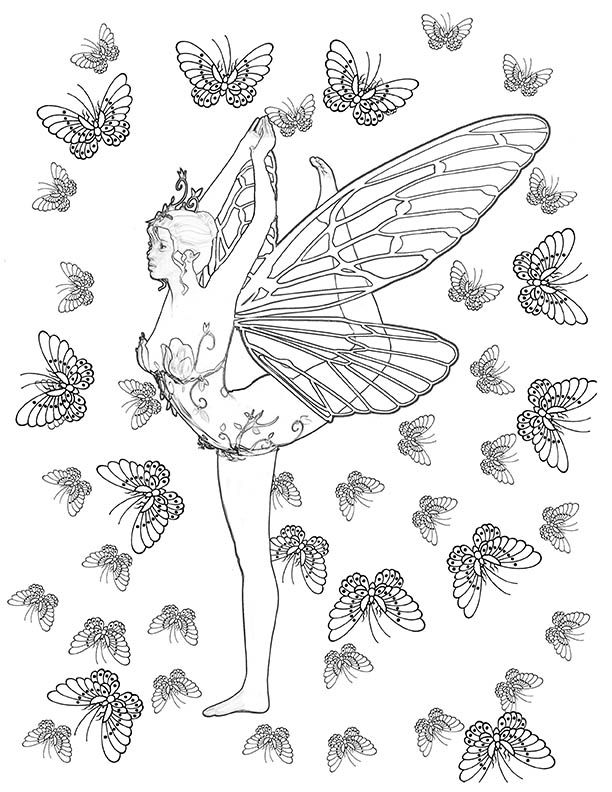 33 Best Yoga Fairies Adult Coloring Book Designed By Adele