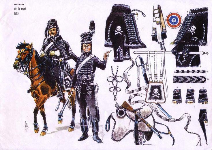 Les cavaliers de la Grande Armée :: Les Hussards de la Mort 1793 (Death's Head Hussars of the Grand Armée 1793) (I don't think the French army was called Le Grand Armée until Napoleon crowned himself Emperor of France in 1803?)