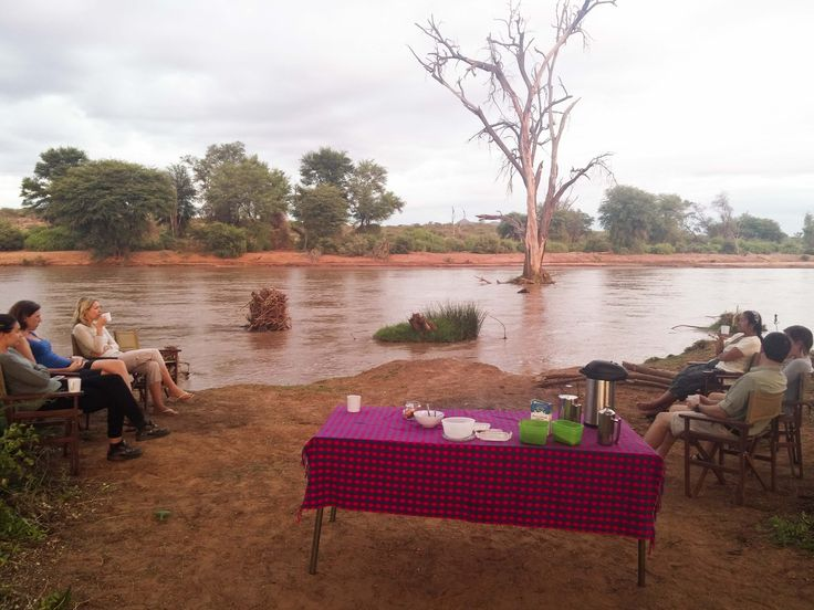 A relaxed river-side meal. #Africa #Kenya #Travel
