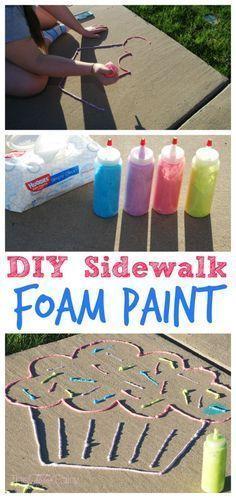 SideWalk Foam Paint - so fun for summer.