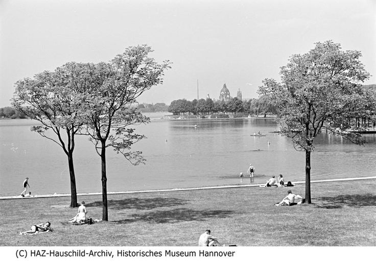 HANNOVER Maschsee 1952 The Maschsee is an artificial lake situated south of the city centre of Hanover in Germany. Spanning an area of 78 hectares, it is the largest body of water within the capital of Lower Saxony. The lake is a popular recreation area as well as a venue for numerous water sports.