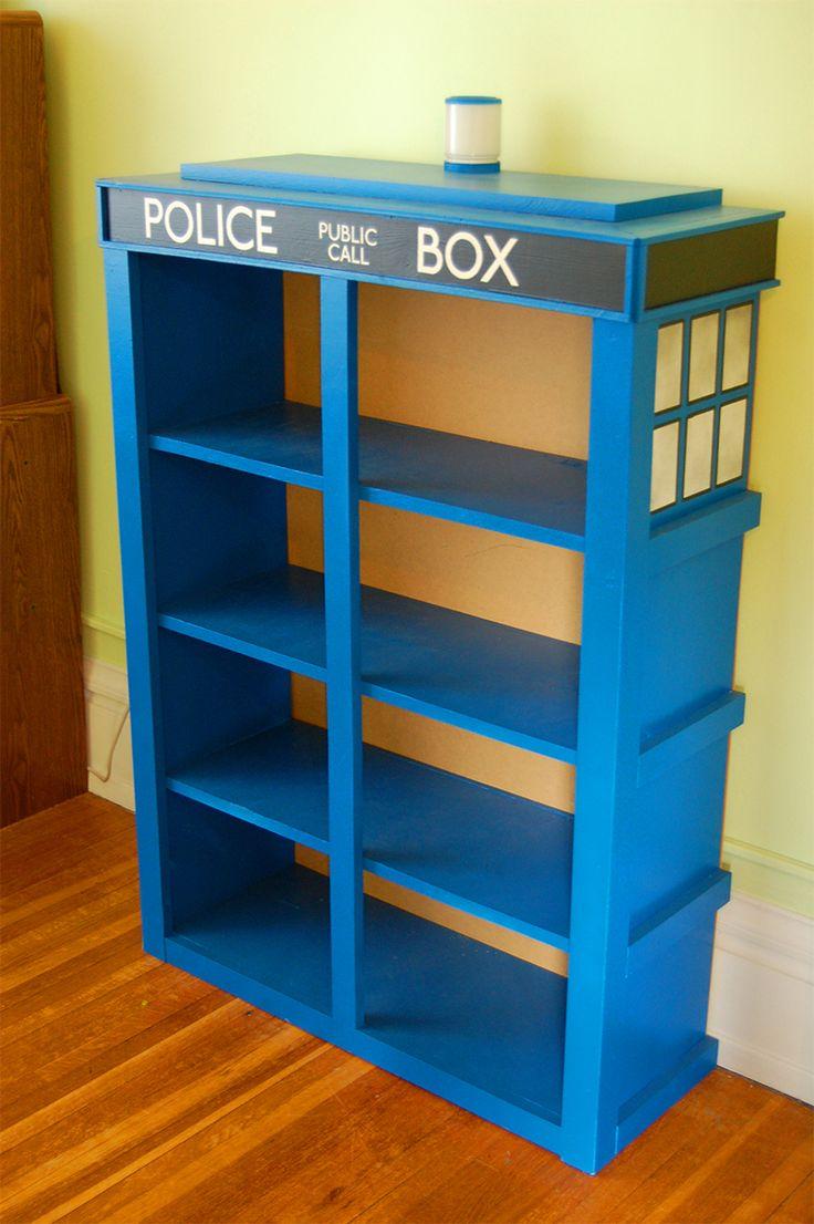i want THIS!   tardis   One Response to The TARDIS Bookshelves