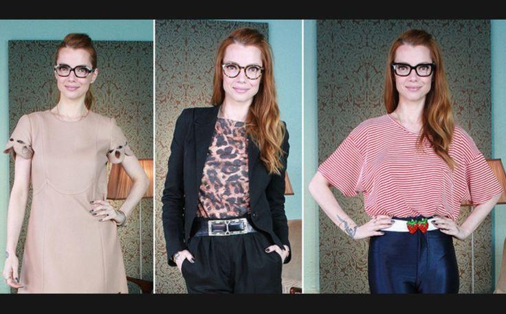 Óculos de grau com armação grossa são os preferidos das famosas - Moda - GNT
