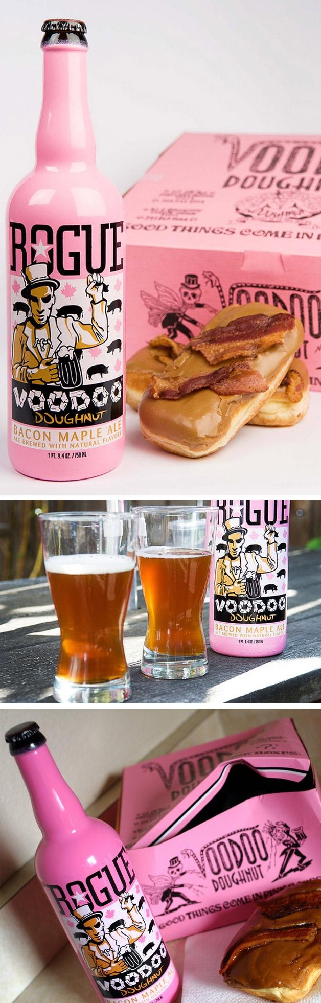 Cerveja sabor bacon. Estão servidos?: Voodoo Doughnuts, Doo Donuts, Creative Design Art Typography, Stuff, Voodoo Rogue, Gifts Fun Things, Voodoo Bacon, Voodoo Beer